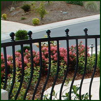 Wrought Iron Railings Woodland