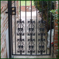 Wrought Iron Driveway gate, Suisun City