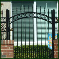Wrought Iron Courtyard Gate Fairfield